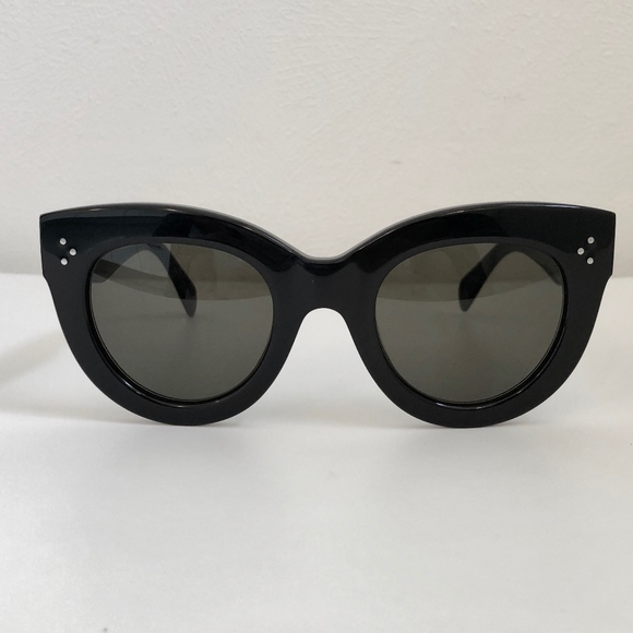62912a2e28f4 Celine Caty Large Cat Eye Sunglasses Black